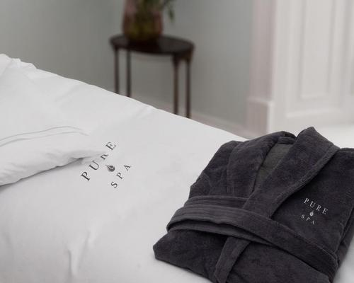 Pure Spa Linen is an eight-piece collection designed for the spa treatment room