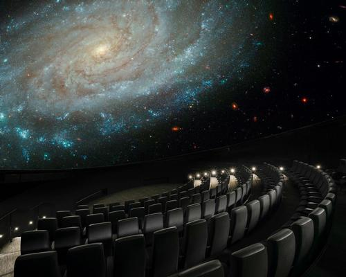 Designed to be a seamless experience, the planetarium will immerse visitors with graphics depicting the cosmos / Courtesy of the Bell Museum and University of Minnesota