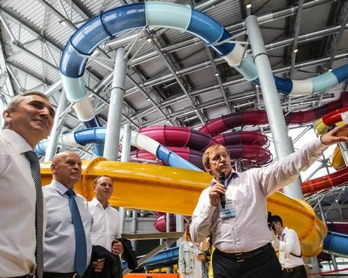 Russian officials inspect the LetoLeto Waterpark and complex in Tyumen