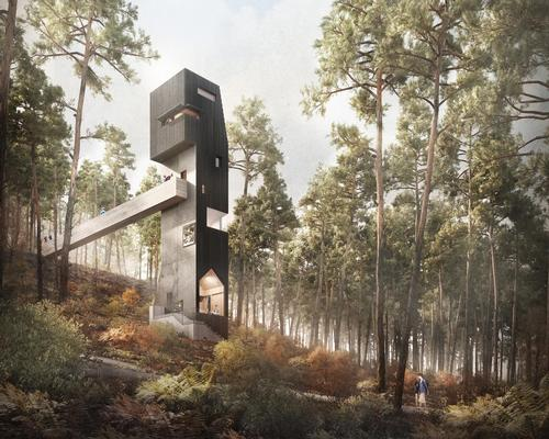 Denizen envisions vertical gallery for Scottish Highlands' Inverewe Garden