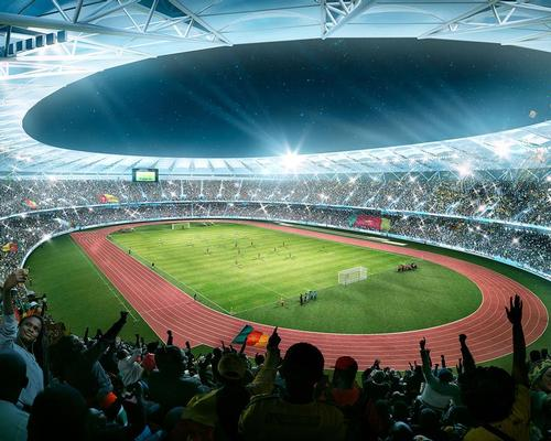 The Japoma will house an athletics track around the football pitch meaning the stadium is future proofed with the ability to hold track and field events.