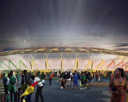 """Aecom lead architect Luciana Di Domenico told CLAD: """"The main stadium itself will take the form of a woven basket, the like of which can be found on the streets of Douala every day, being crafted by local tradespeople"""""""