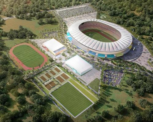 The Japoma Sports Complex will also be home to a sports hall, an Olympic sized swimming pool, training fields for football and athletics, a clubhouse, restaurants and a landscaped area
