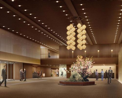 Taniguchi is designing the new lobby as an updated version of the one his father created in 1962 for the original hotel