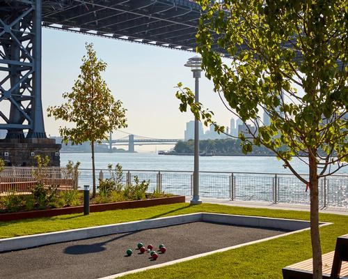 Features include a 1,200ft-long waterfront esplanade