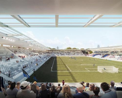 Iotti+Pavarani won a restricted competition in 2017 for their stadium design and have this year undergone the feasibility study