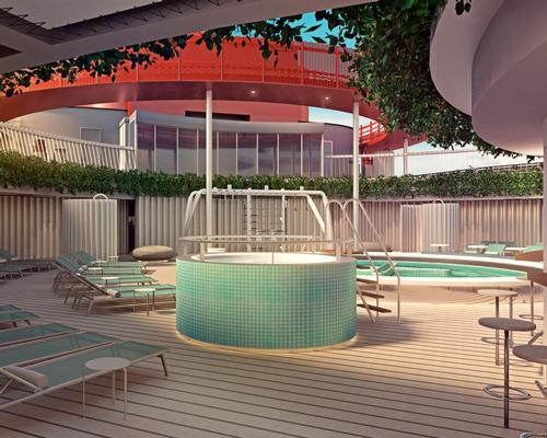 The ship will also be home to a wellness pool and juice bar