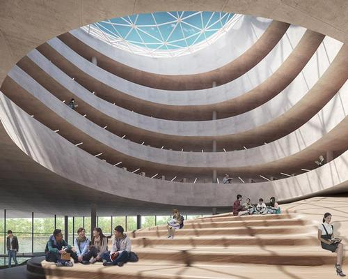 A youth a library, museum and music performance centre are also included in the proposal's legacy offering / Benthem Crouwel