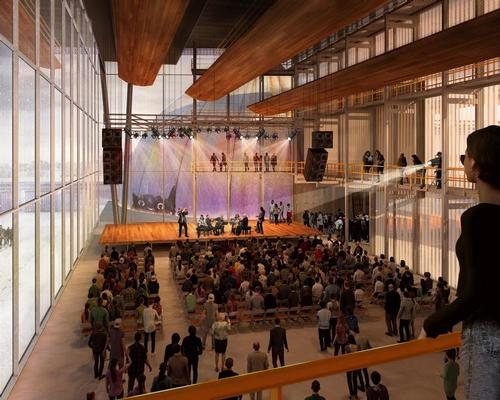 The venue can also shapeshift into an enclosed, smaller performance space during the winter