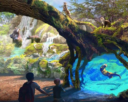 A proposed riverwalk features North American animals, such as bears and otters / San Antonio Zoo