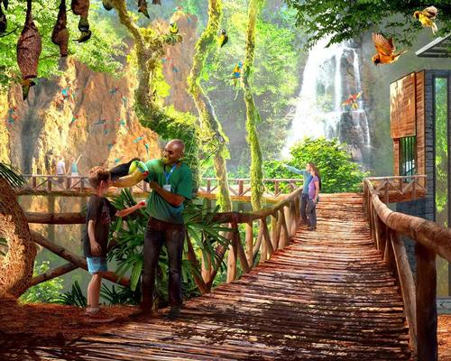 The World of Birds concept is an immersive aviary filled with brightly-coloured birds / San Antonio Zoo