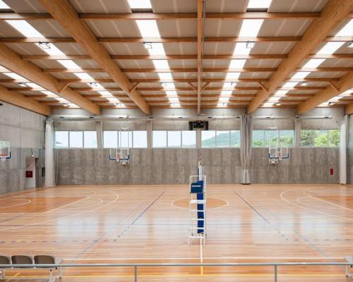 The whole sports floor inside measures at 7,000sq ft (650sq m) in area