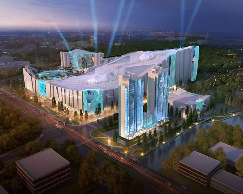 A conceptual image of the entire Wintastar resort / courtesy of KOP Limited and Mercurio Design Lab