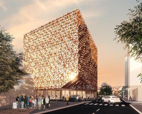 Construction commences on the Blloku Cube, Stefano Boeri's first Albanian project