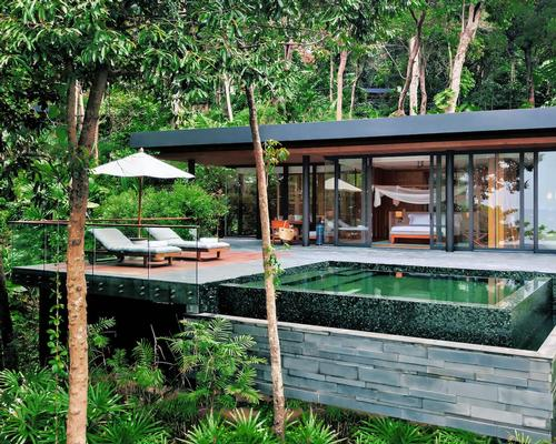 Six Senses Krabey Island will feature 40 private pool villas with green living roofs, sun decks with infinity plunge pools and rain showers