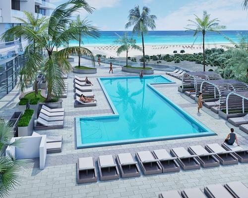 The Amrit Ocean Resort & Residences is located by the beach in Palm Beach County, Florida