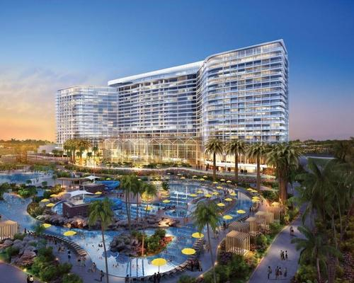 A rendering of the proposed Chula Vista bayfront hotel / courtesy of RIBA Development Corporation