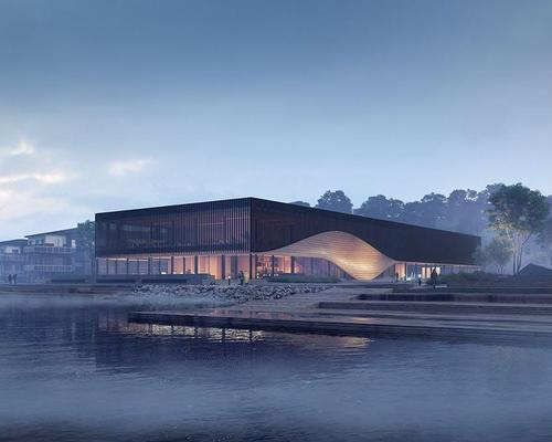 Rendering of the proposed climatorium / courtesy of 3XN