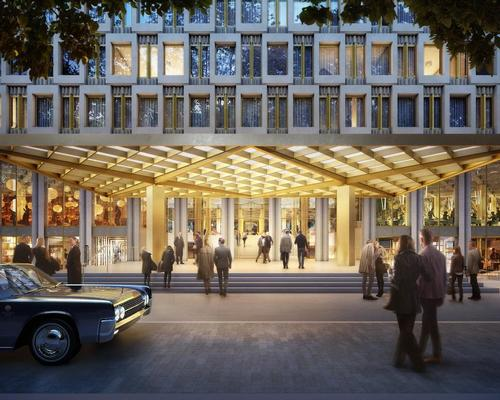 The new luxury hotel will draw inspiration from the designs of the embassy's original architect, Eero Saarinen. / Courtesy of David Chipperfield Architects