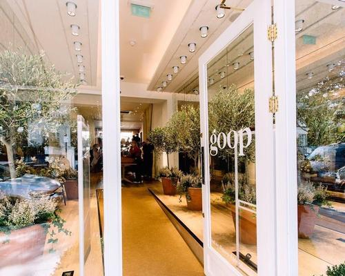 The Goop pop-up features California-inspired interiors designed by Fran Hickman