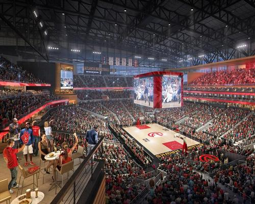 The new arena is set to open on 20 October / Courtesy of the Atlanta Hawks/HOK Architects