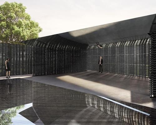 Serpentine Galleries artistic director, Hans Ulrich Obrist and CEO, Yana Peel, called Escobedo's Pavilion