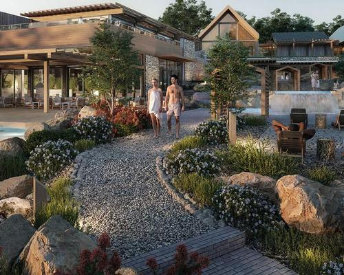 Construction on the new relaxation centre formally broke ground on 11 June. / Courtesy of Nordik Group