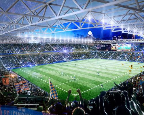 The estimated cost of the new stadium is $200m (£174.6m, €229m). / Courtesy of Meis Architects