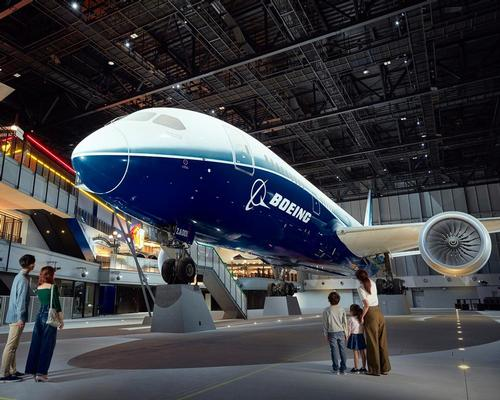 Flight of Dreams stretches over four floors and is home to the Boeing 787 Dreamliner ZA001