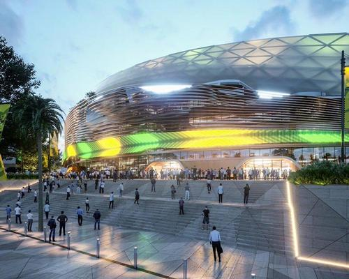The new stadium will rise at Moore Park on the site of the current Allianz building. / Courtesy of Cox Architecture
