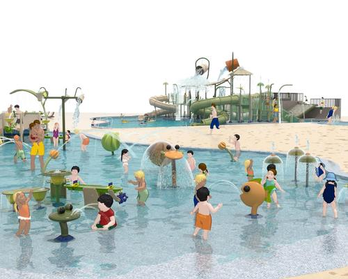 The waterpark will feature four pools with three Vortex Elevations multi-level structures and four standalone water slides, as well as ground-level Poolplay elements