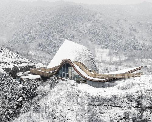"New ""Hilltop Gallery"" in China's Yanshan mountains completes construction"