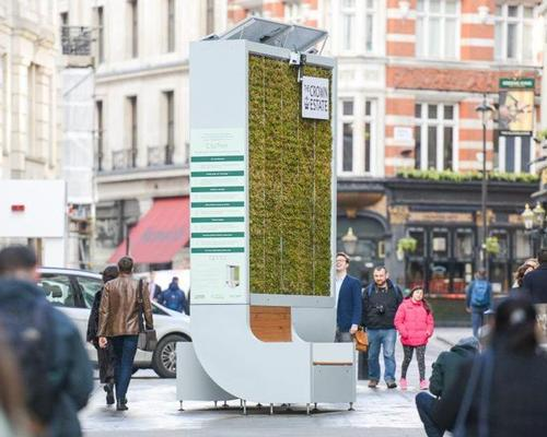 London's new pollution-eating living wall has air purifying power of 275 trees
