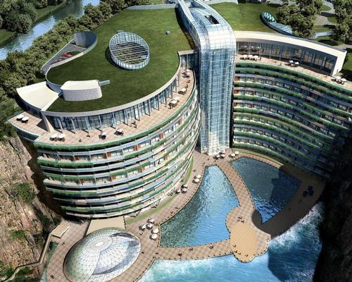World's first subterranean resort opens in Shanghai