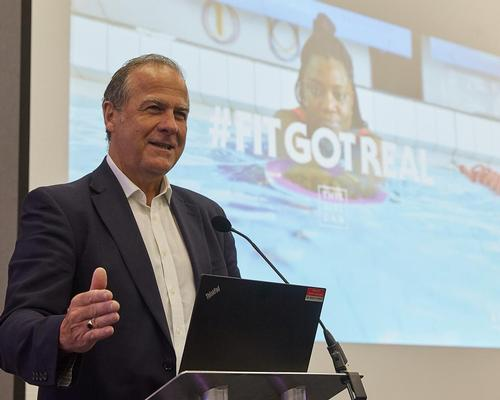 Dave Newton, Sport England's executive director of mass markets, revealed details of the third 'This Girl Campaign' at the  Legend customer day at the NEC today / John Warden Photography