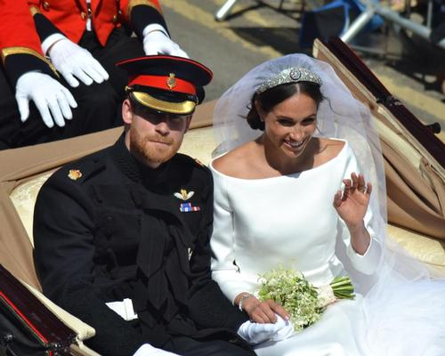 Meghan and Harry's wedding outfits go on display in Windsor