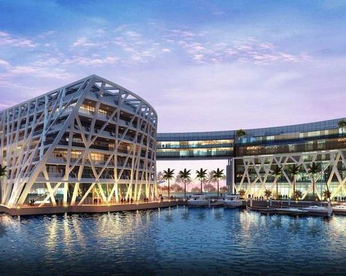 EDITION Abu Dhabi forms part of the expansive Marina Bloom development. / Courtesy of EDITION Hotels/ Marriott International