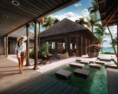 The hotel's villas range between 55 and 500 sq m.