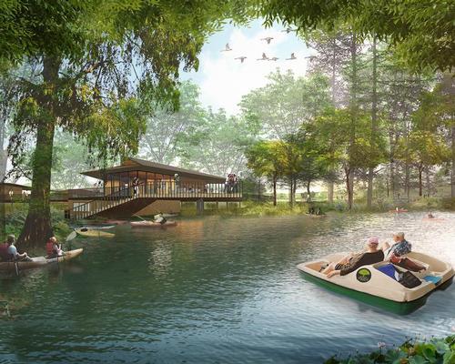 The Bonnet Springs Park Board selected Sasaki to design the new public realm in 2017. / Courtesy of Sasaki