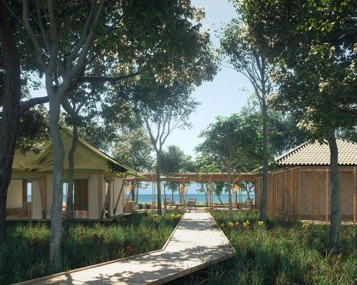 The resort was designed by French architecture studio, AW².