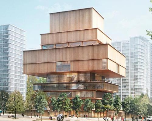 The wood-clad design is a nod to Vancouver's West End neighbourhood, one of the city's earliest settlements and historically a densely-wooded area / Herzog and de Meuron