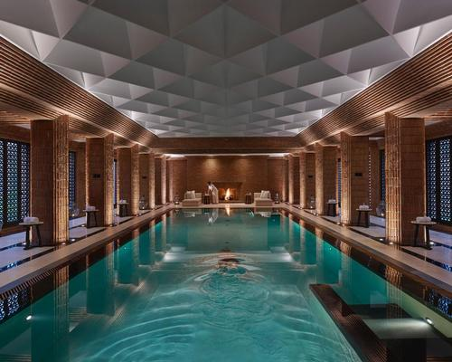 The spa was designed by French duo Gilles & Boissier, who took their inspiration from the architecture of cathedrals and historical mosques in Andalusia / Mandarin Oriental