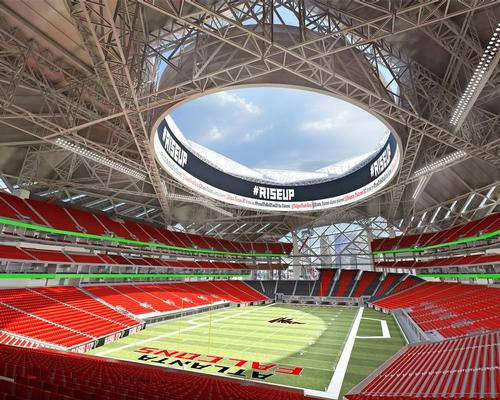 HOK designed the Mercedes-Benz stadium in Atlanta