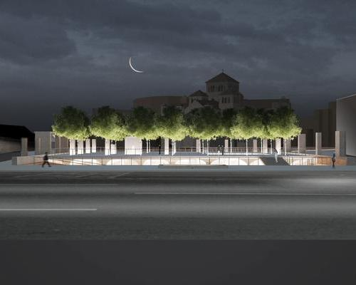 In the plans, 23 pagoda trees appear to hover a little way above the traffic-filled streets below / Studio MMK