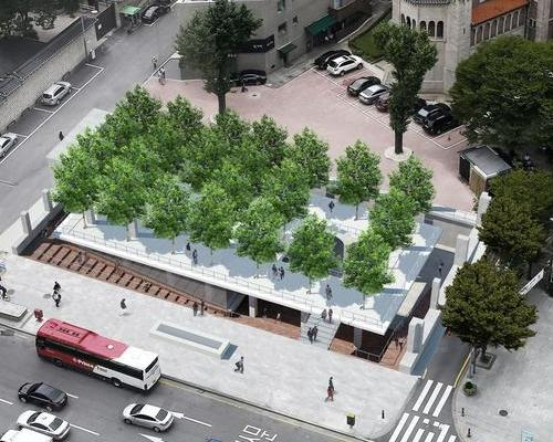 The studio entered a competition to design a new public and cultural space in one of Seoul's most historic streets / Studio MMK
