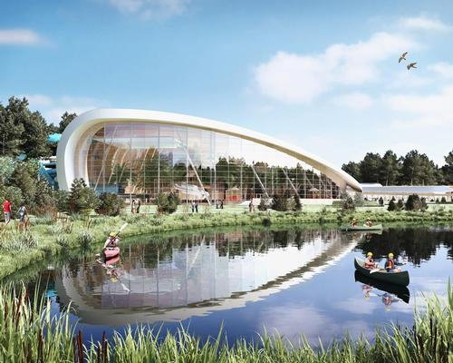 The resort will include Subtropical Swimming Paradise with water rides and a nearby lake