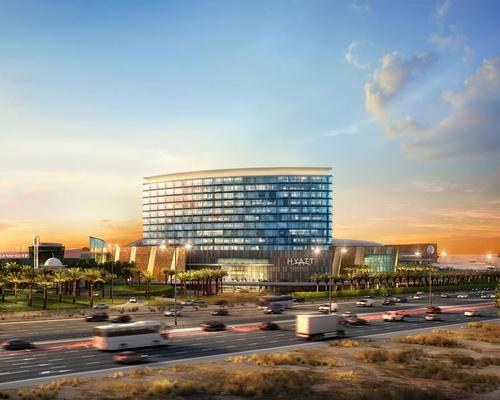The 261-room Grand Hyatt Kuwait hotel will sit at the heart of 360 Mall's expansion / Hyatt Hotels