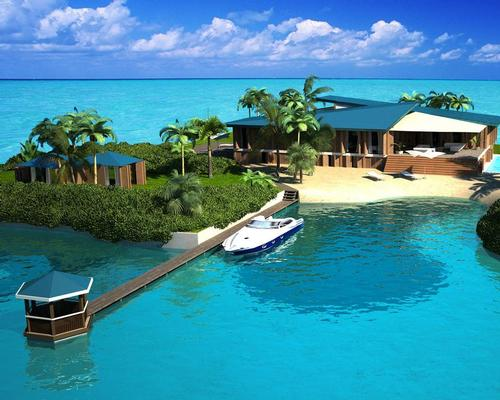 The Amillarah Private Islands company has created the portable island concept with architect Koen Olthuis and water-based design specialists Dutch Docklands / Amillarah Private Islands