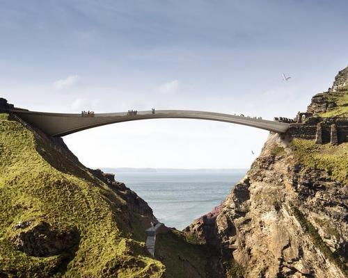 The team led by RFR uses natural stone, with the bridge taking its place within Tintagel's historical layers / English Heritage