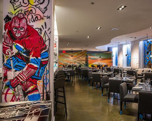 The restaurant mixes art, design and fine dining in a colourful combination / Patricia Brochu
